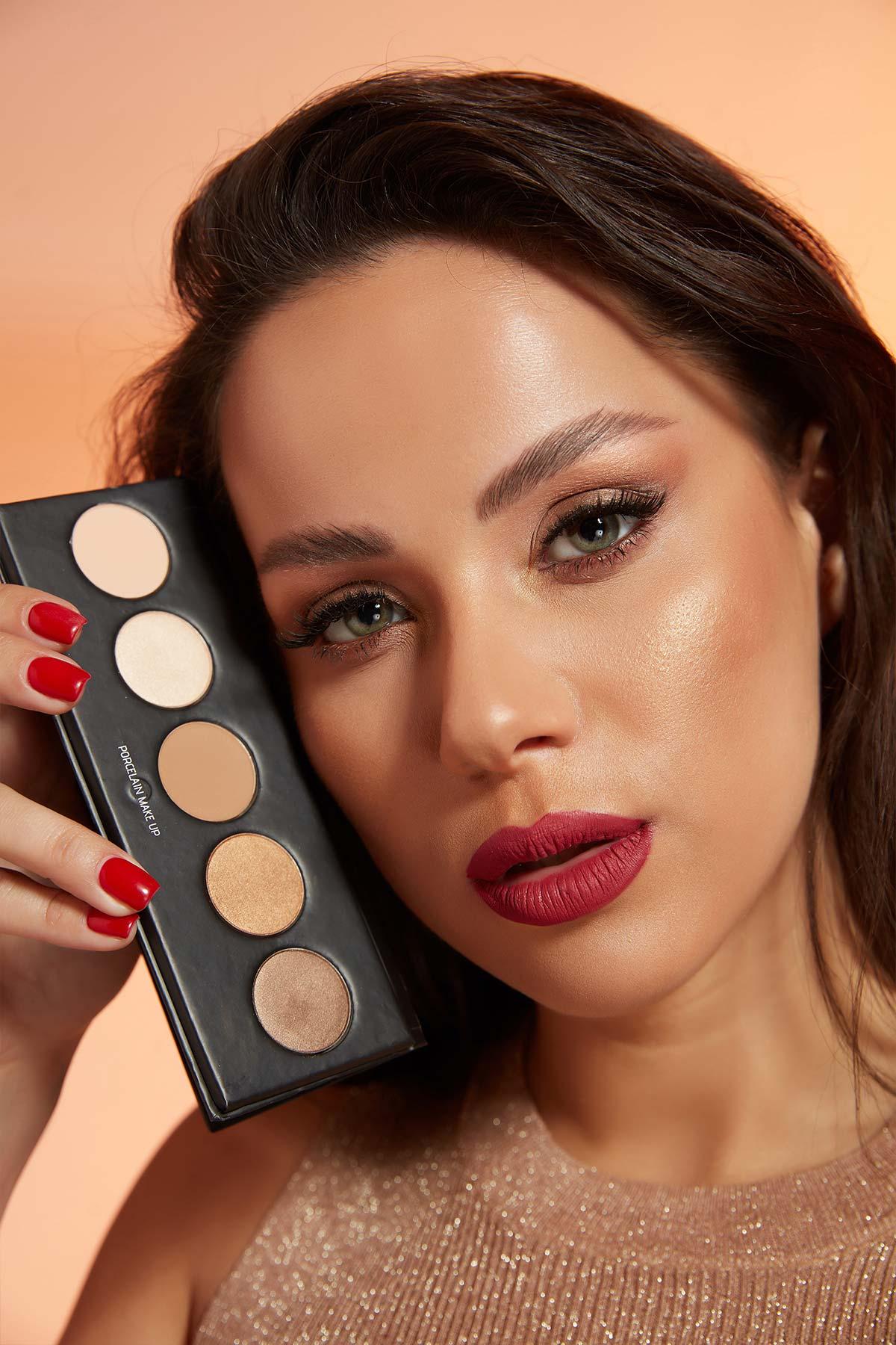 Eyeshadow Palette - Brown Tones - 5 Colours -Eyeshadow