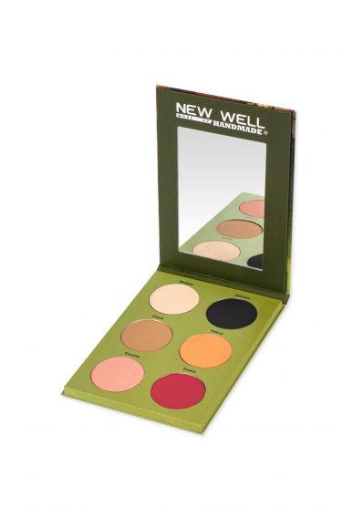 Handmade Eyeshadow Palette - Hanna - 6 Colours -Göz Farı