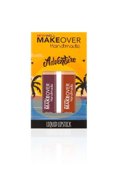 Makeover Handmade 2'li Liquid Lipstick - Adventure - 4ml -Ruj - Lipstick