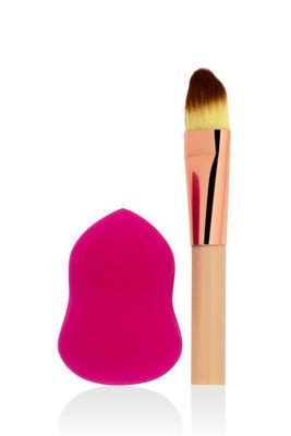 Professional Makeup - Makyaj Süngeri & Mini Fırça -Makyaj Fırçaları