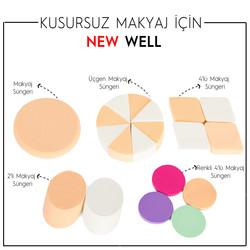Renkli 4'lü Makyaj Süngeri -Makyaj Süngeri Thumbnail
